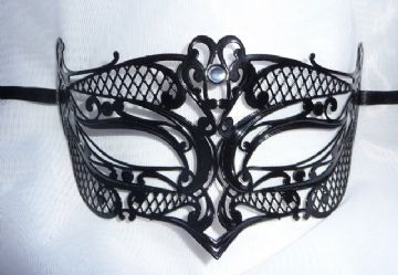 Genuine Venetian Black Metal filigree Petite Eye Mask (6)